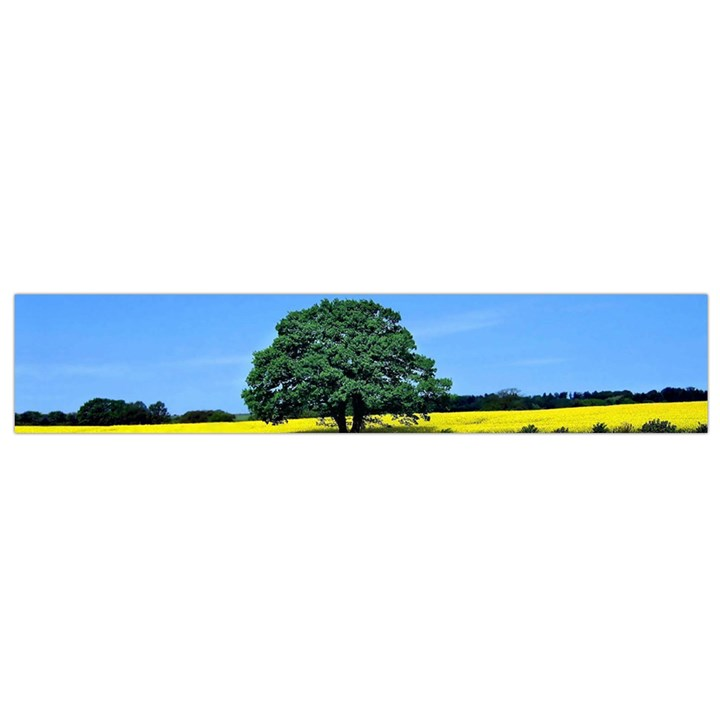 Tree In Field Small Flano Scarf
