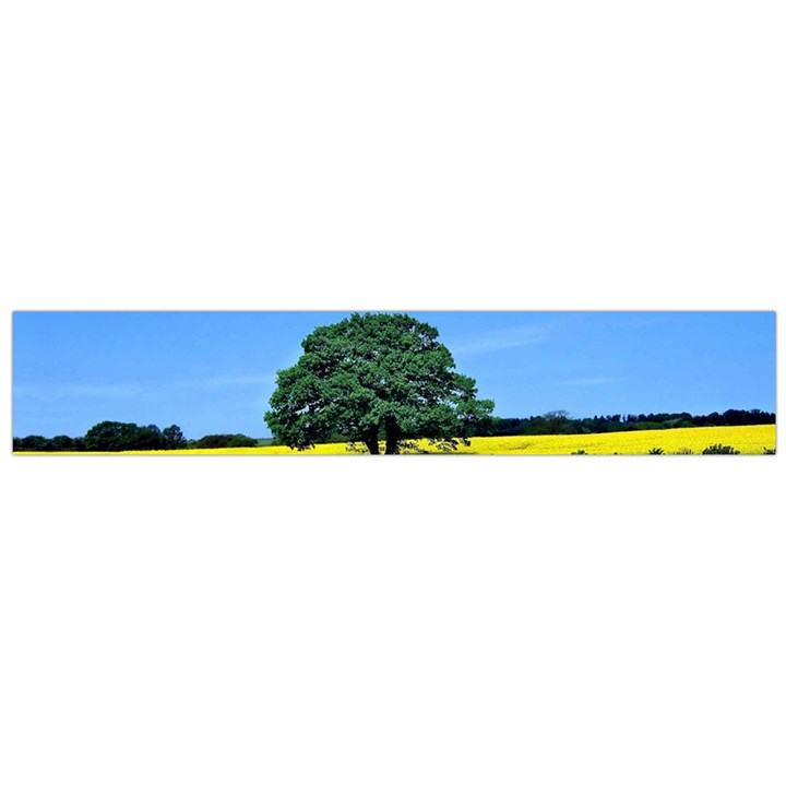 Tree In Field Large Flano Scarf