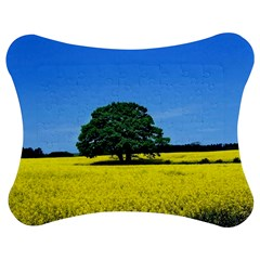 Tree In Field Jigsaw Puzzle Photo Stand (bow)