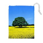 Tree In Field Drawstring Pouch (XL) Front