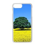 Tree In Field Apple iPhone 8 Plus Seamless Case (White) Front