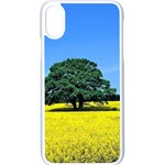 Tree In Field Apple iPhone X Seamless Case (White) Front