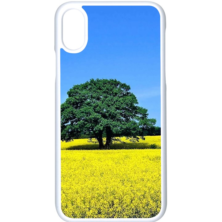 Tree In Field Apple iPhone X Seamless Case (White)