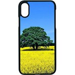 Tree In Field Apple iPhone X Seamless Case (Black) Front