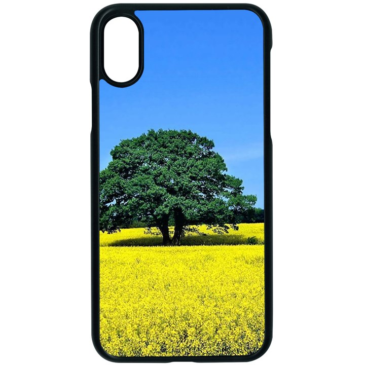 Tree In Field Apple iPhone X Seamless Case (Black)