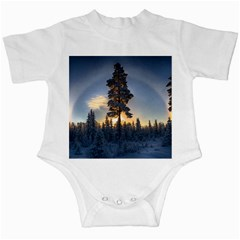 Winter Sunset Pine Tree Infant Creepers