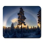 Winter Sunset Pine Tree Large Mousepads Front