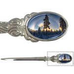 Winter Sunset Pine Tree Letter Opener Front