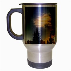 Winter Sunset Pine Tree Travel Mug (silver Gray)