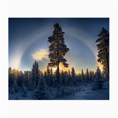 Winter Sunset Pine Tree Small Glasses Cloth