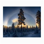 Winter Sunset Pine Tree Small Glasses Cloth Front
