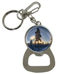 Winter Sunset Pine Tree Bottle Opener Key Chains Front