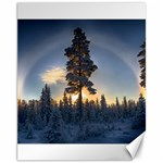 Winter Sunset Pine Tree Canvas 11  x 14  14 x11 Canvas - 1