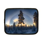 Winter Sunset Pine Tree Netbook Case (Small) Front