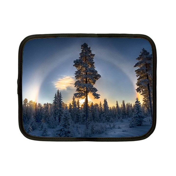 Winter Sunset Pine Tree Netbook Case (Small)