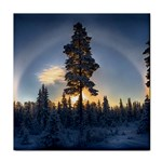 Winter Sunset Pine Tree Face Towel Front