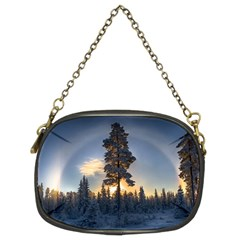 Winter Sunset Pine Tree Chain Purse (two Sides)