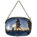 Winter Sunset Pine Tree Chain Purse (Two Sides) Front