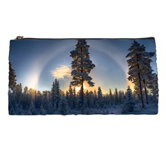 Winter Sunset Pine Tree Pencil Cases by Alisyart