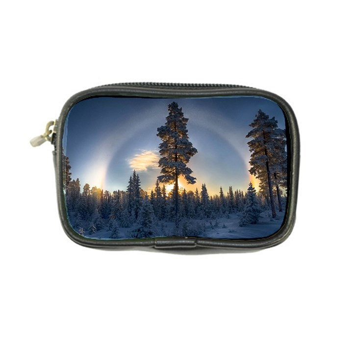 Winter Sunset Pine Tree Coin Purse