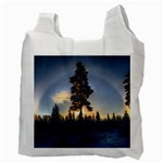 Winter Sunset Pine Tree Recycle Bag (Two Side) Back