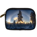Winter Sunset Pine Tree Digital Camera Leather Case Front