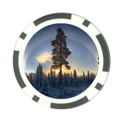 Winter Sunset Pine Tree Poker Chip Card Guard (10 Pack)