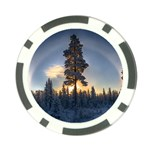 Winter Sunset Pine Tree Poker Chip Card Guard (10 pack) Back