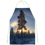 Winter Sunset Pine Tree Full Print Aprons Front