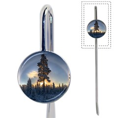 Winter Sunset Pine Tree Book Mark by Alisyart
