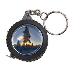 Winter Sunset Pine Tree Measuring Tape by Alisyart
