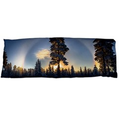 Winter Sunset Pine Tree Body Pillow Case (dakimakura)