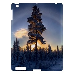 Winter Sunset Pine Tree Apple Ipad 3/4 Hardshell Case