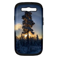 Winter Sunset Pine Tree Samsung Galaxy S Iii Hardshell Case (pc+silicone)