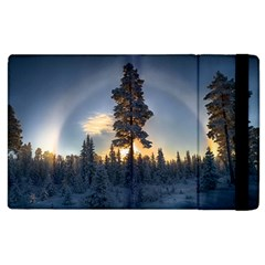 Winter Sunset Pine Tree Apple Ipad 3/4 Flip Case