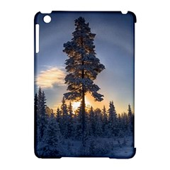 Winter Sunset Pine Tree Apple Ipad Mini Hardshell Case (compatible With Smart Cover)