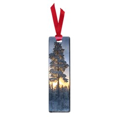 Winter Sunset Pine Tree Small Book Marks by Alisyart
