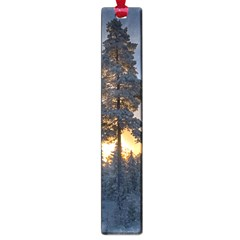 Winter Sunset Pine Tree Large Book Marks by Alisyart
