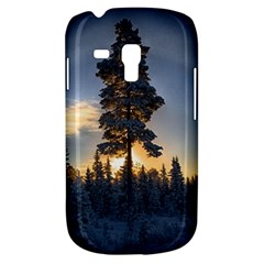 Winter Sunset Pine Tree Samsung Galaxy S3 Mini I8190 Hardshell Case