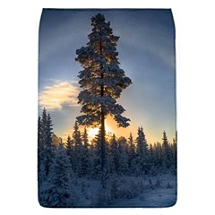 Winter Sunset Pine Tree Removable Flap Cover (s)