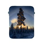 Winter Sunset Pine Tree Apple iPad 2/3/4 Protective Soft Cases Front