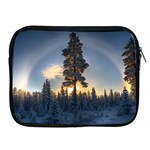 Winter Sunset Pine Tree Apple iPad 2/3/4 Zipper Cases Front