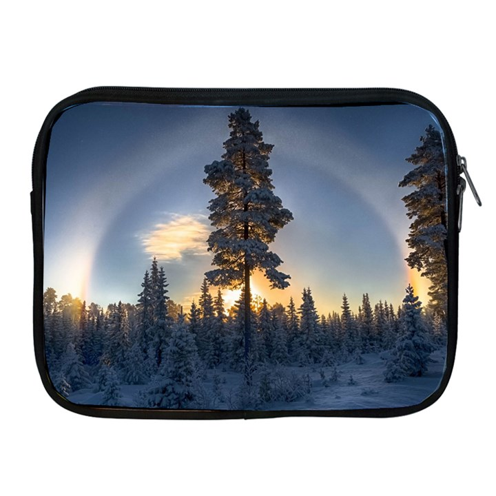Winter Sunset Pine Tree Apple iPad 2/3/4 Zipper Cases