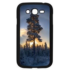 Winter Sunset Pine Tree Samsung Galaxy Grand Duos I9082 Case (black) by Alisyart