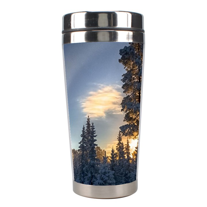 Winter Sunset Pine Tree Stainless Steel Travel Tumblers