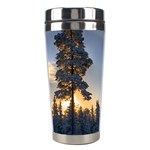 Winter Sunset Pine Tree Stainless Steel Travel Tumblers Center