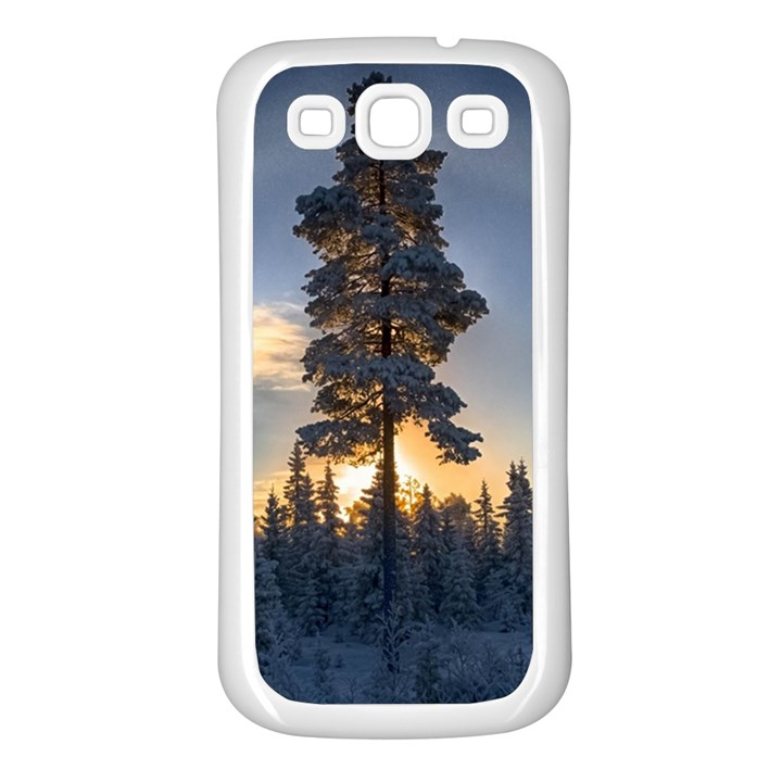 Winter Sunset Pine Tree Samsung Galaxy S3 Back Case (White)