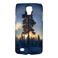 Winter Sunset Pine Tree Samsung Galaxy S4 Active (i9295) Hardshell Case