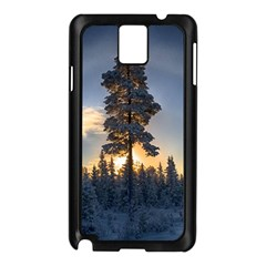 Winter Sunset Pine Tree Samsung Galaxy Note 3 N9005 Case (black) by Alisyart