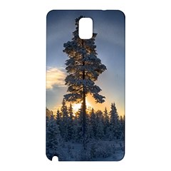 Winter Sunset Pine Tree Samsung Galaxy Note 3 N9005 Hardshell Back Case by Alisyart